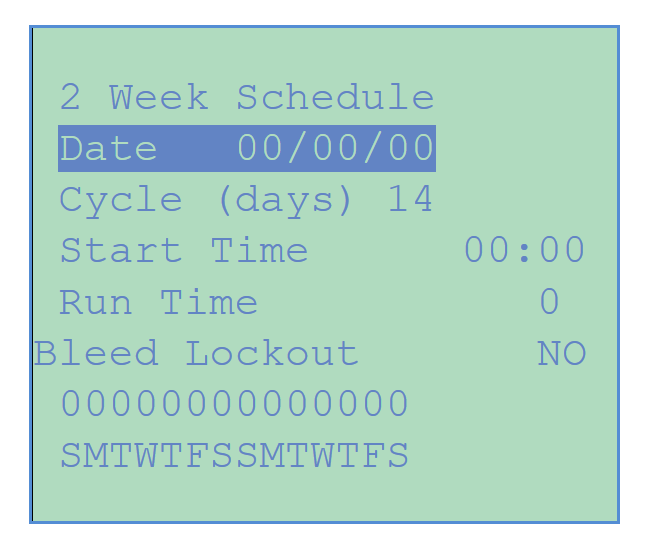 Chemtrol Category Image - 2-week Schedule