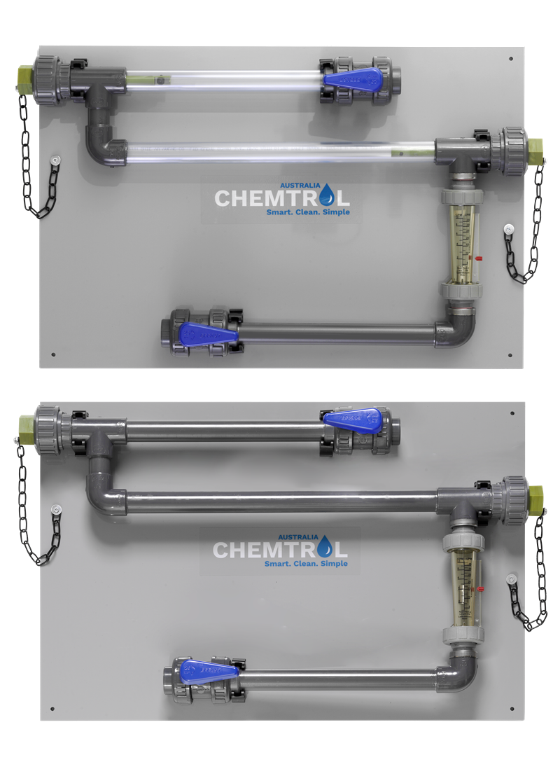 Chemtrol Product - Corrosion Coupon Rack with Flowmeter